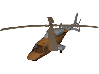 Bell 2201 Helicopter 3D Model