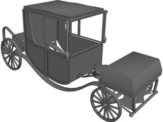 Royal Wagon 3D Model