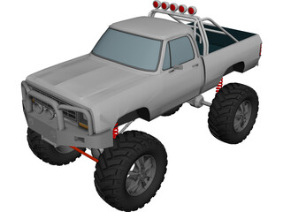 Dodge Ram 4x4 Tuned (1984) 3D Model