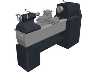 Industrial Lathe 3D Model