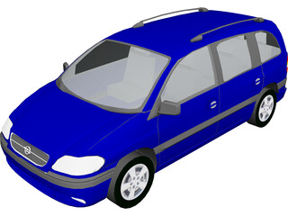 Opel Zafira 3D Model