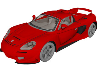 Porsche Carrera GT [Tuned] 3D Model