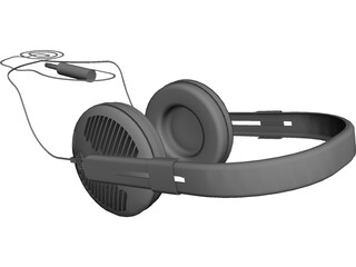 Sennheiser HD-540 Reference Headphones 3D Model