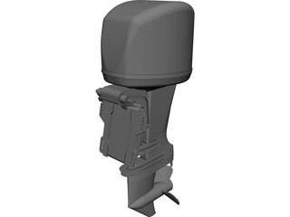 Outboard Motor Yamaha 40HP 3D Model
