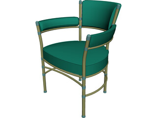 Chair Metal and Belt 3D Model