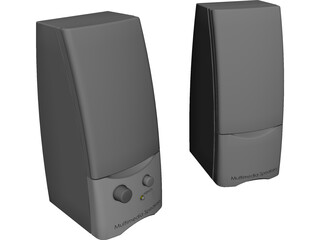 Computer Multimedia Speakers 3D Model