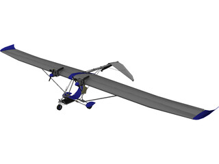 Glider Airplane 3D Model 3D Preview