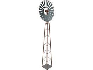 Farm Wind Mill 3D Model
