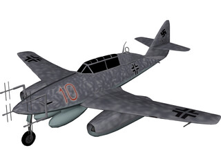 Messerschmidt Me 262 3D Model
