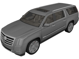 Cadillac Escalade ESV (2018) 3D Model