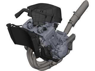 Honda CBR954RR Engine CAD 3D Model
