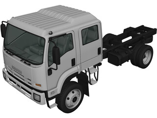 Isuzu FTS800 CrewCab Chassis (2014) 3D Model