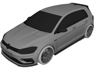 Volkswagen Golf GTI (2019) 3D Model
