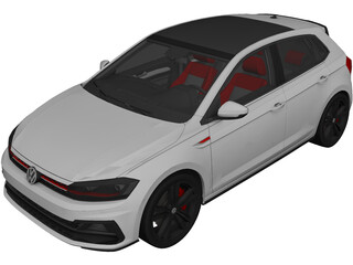 Volkswagen Polo GTI (2018) 3D Model