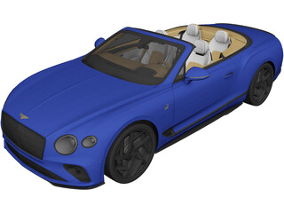 Bentley Continental GT Convertible (2020) 3D Model
