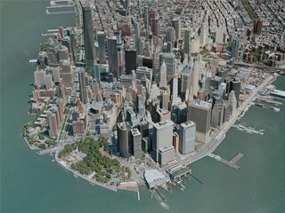 New York City, Lower Manhattan, USA (2020) 3D Model