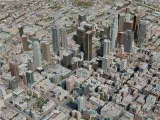 Los Angeles City, USA (2020) 3D Model