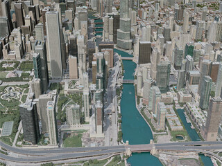 Chicago City, USA (2020) 3D Model