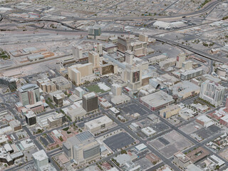 Las Vegas City, Downtown, USA (2020) 3D Model