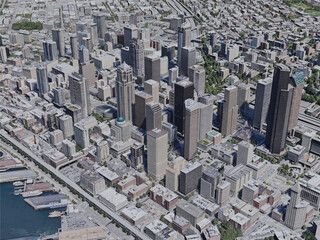 Seattle City, USA (2020) 3D Model