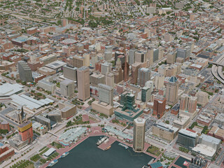 Baltimore City, USA (2020) 3D Model