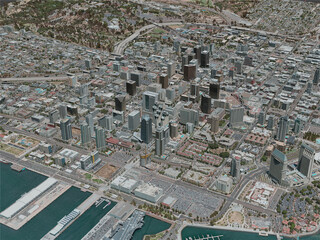 San Diego City, USA (2020) 3D Model