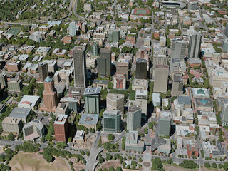 Portland City, OR, USA (2020) 3D Model