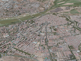 Badajoz City, Spain (2020) 3D Model