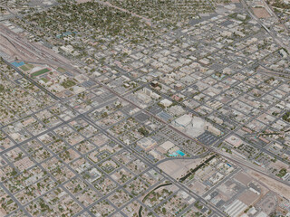 Bakersfield City, USA (2020) 3D Model