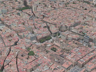 Barcelona City, Spain (2020) 3D Model