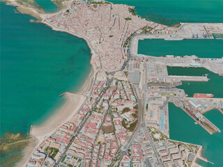 Cadiz City, Spain (2020) 3D Model
