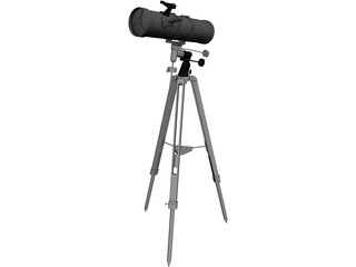 National Geographic 130/650 Telescope CAD 3D Model