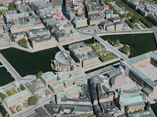 Stockholm City, Sweden (2020) 3D Model