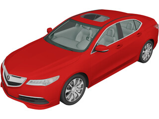 Acura TLX (2015) 3D Model