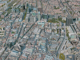 Brussels City, Belgium (2020) 3D Model