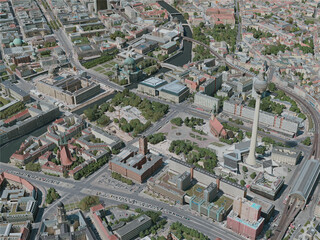 Berlin City, Germany (2020) 3D Model