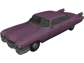 Cadillac Fleetwood Brougham (1959) 3D Model