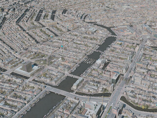 Amsterdam City, Netherlands (2020) 3D Model
