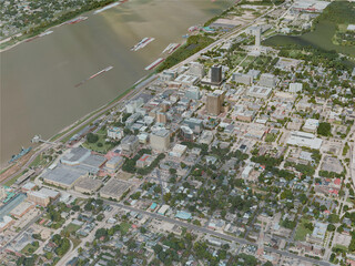 Baton Rouge City, USA (2020) 3D Model