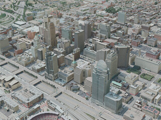Cincinnati City, USA (2020) 3D Model