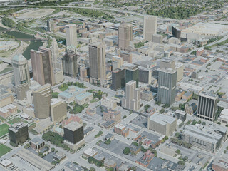 Columbus City, USA (2020) 3D Model