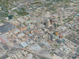 Indianapolis City, USA (2020) 3D Model