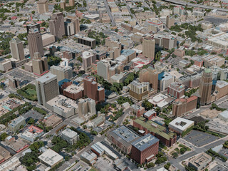 San Antonio City, USA (2020) 3D Model