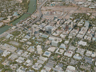 Sacramento City, USA (2020) 3D Model