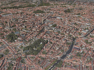 Bruges City, Belgium (2020) 3D Model