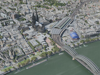 Cologne City, Germany (2020) 3D Model