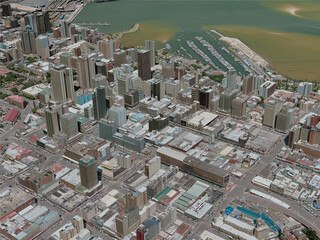 Durban City, South Africa (2020) 3D Model