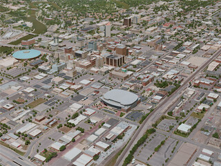Wichita City, USA (2020) 3D Model
