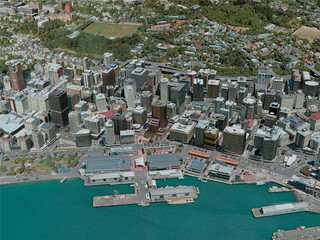 Wellington City, New Zealand (2020) 3D Model