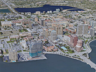 West Palm Beach City, FL, USA (2021) 3D Model